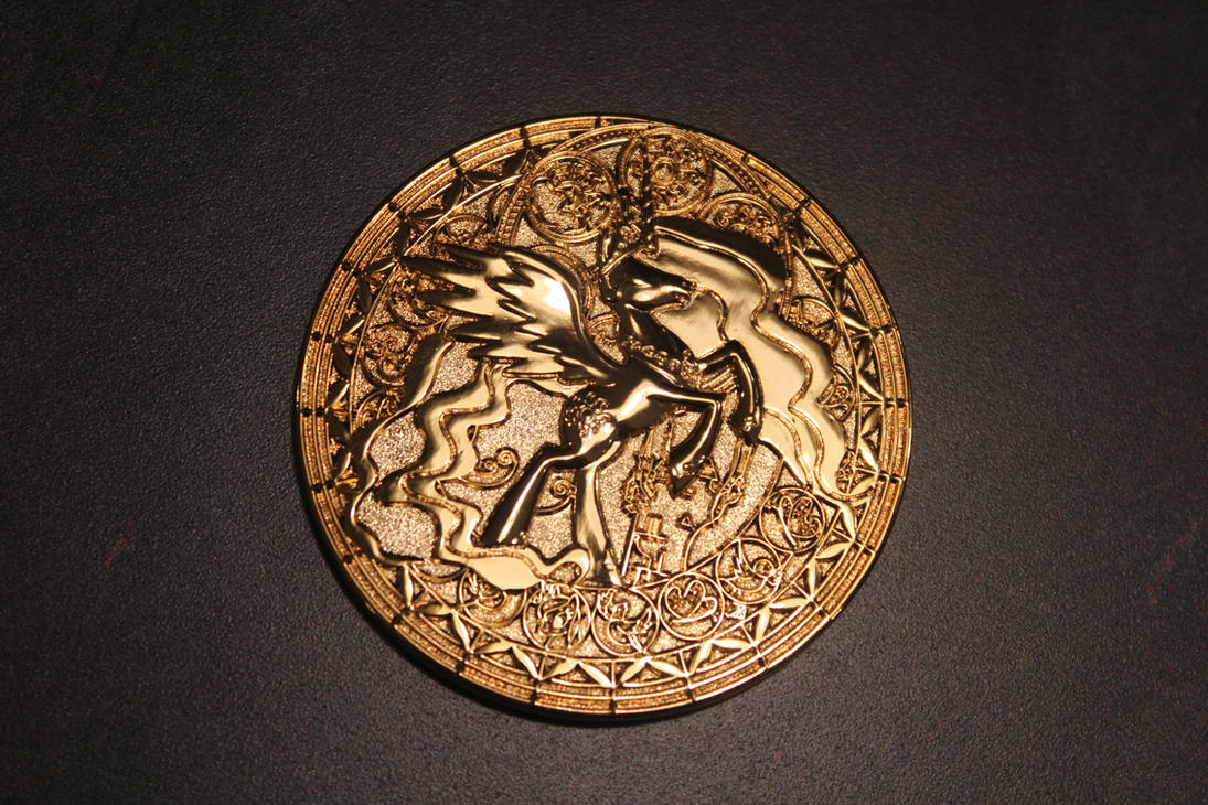 Princess Celestia Gold Coin by ShadowRunner27
