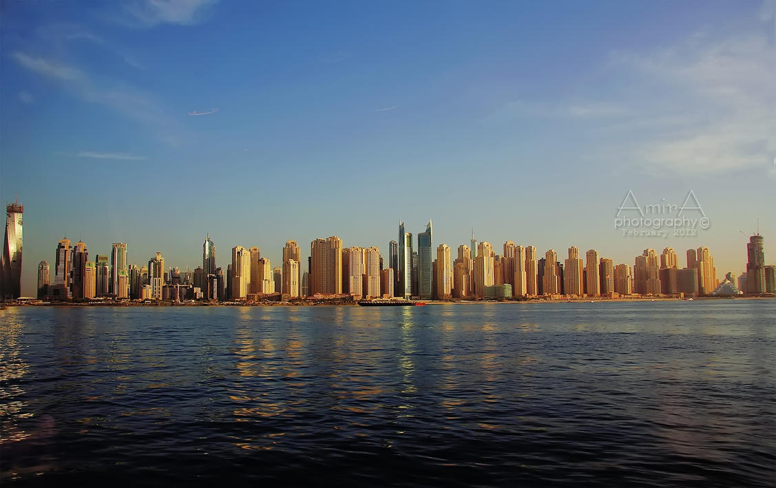 D Art Exhibition Jbr : Dubai jbr view from sea by amirajuli on deviantart