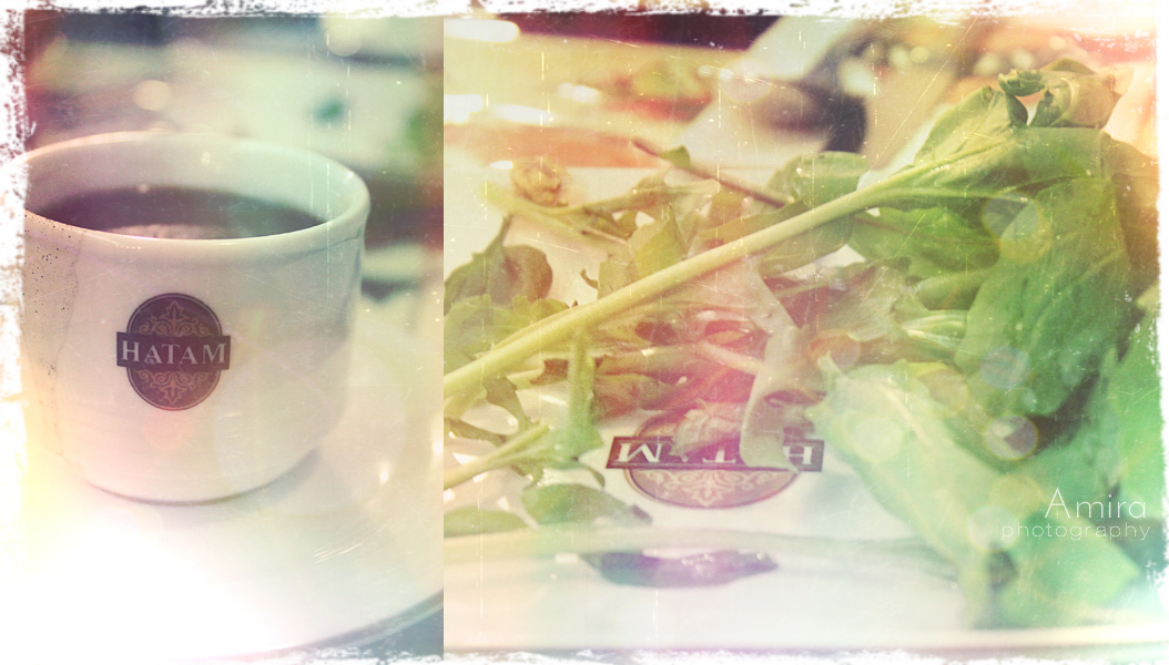 coffee and salad in Hatam by amirajuli