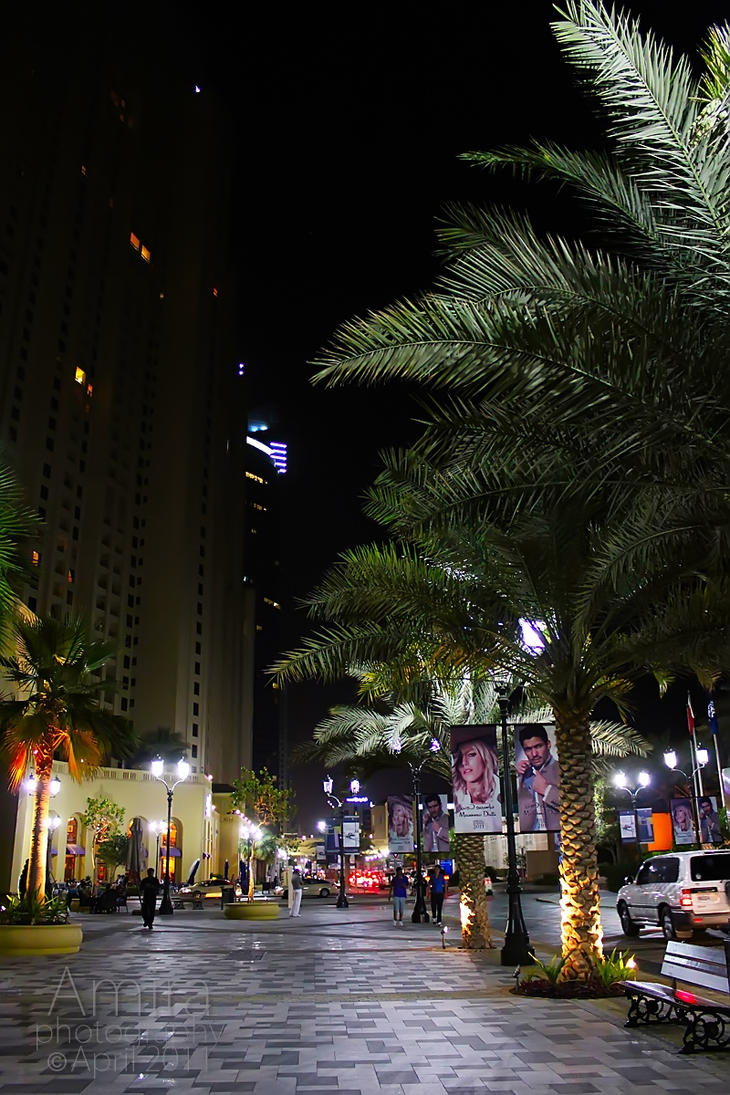 D Art Exhibition Jbr : Jbr the walk night by amirajuli on deviantart