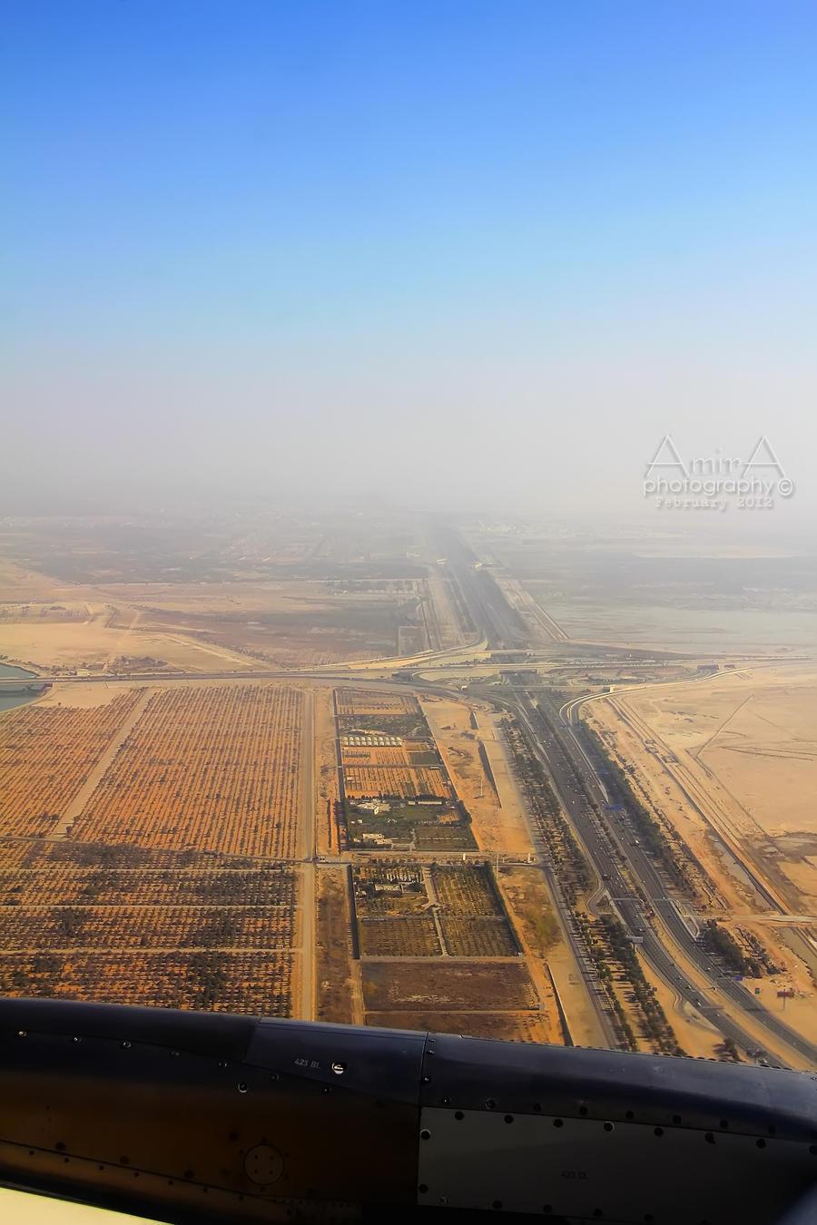 Abu Dhabi from plane by amirajuli