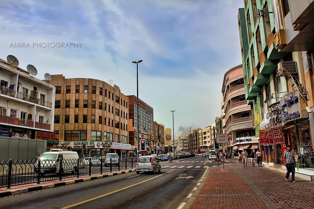 Deira streets Dubai DXB by amirajuli
