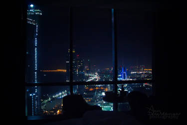 Night view of Abu Dhabi by amirajuli