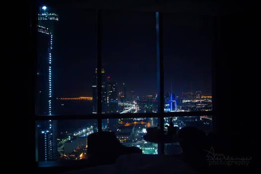 Night view of Abu Dhabi