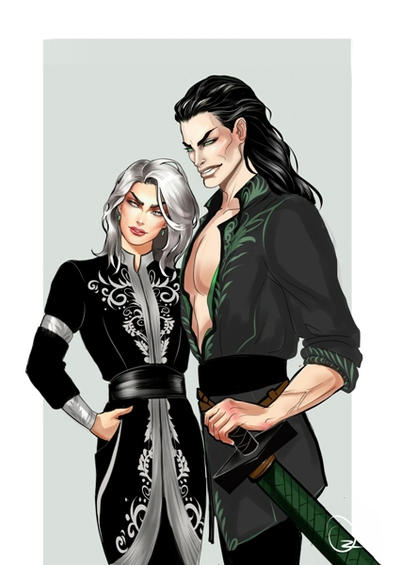 Artagir and North Moradan (Tiamat) by Ozarielle