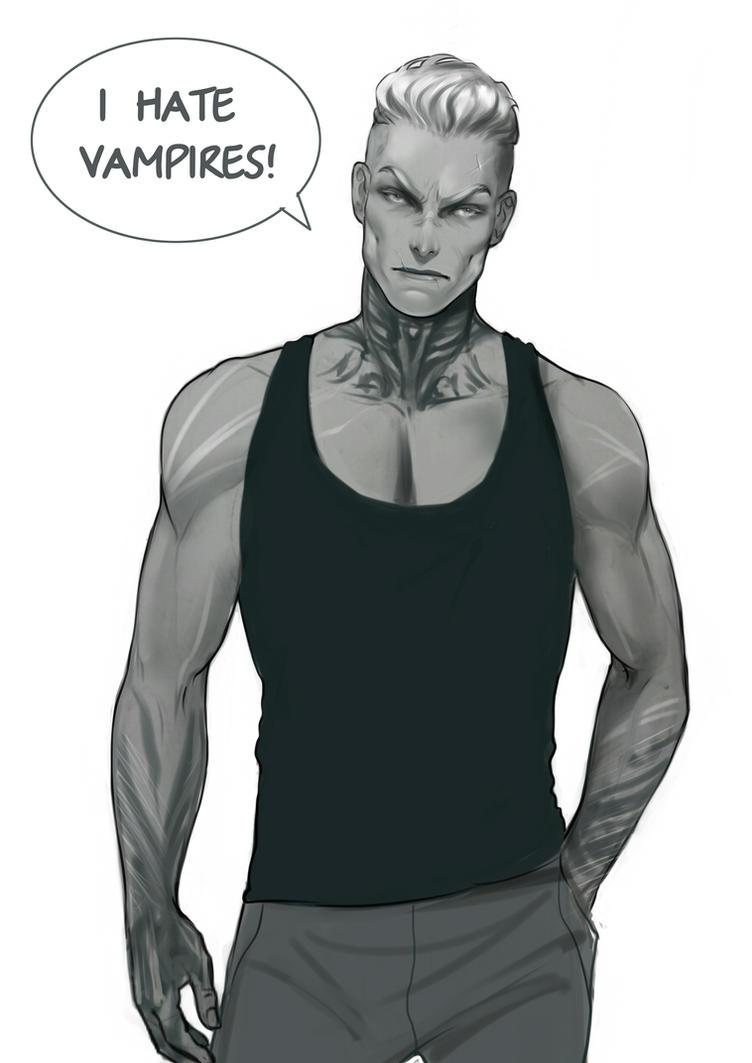 I hate vampires! Gunther. Vampire Hunter by Ozarielle