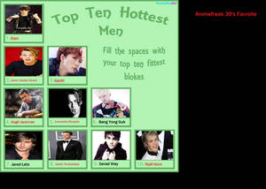 My top ten hot men