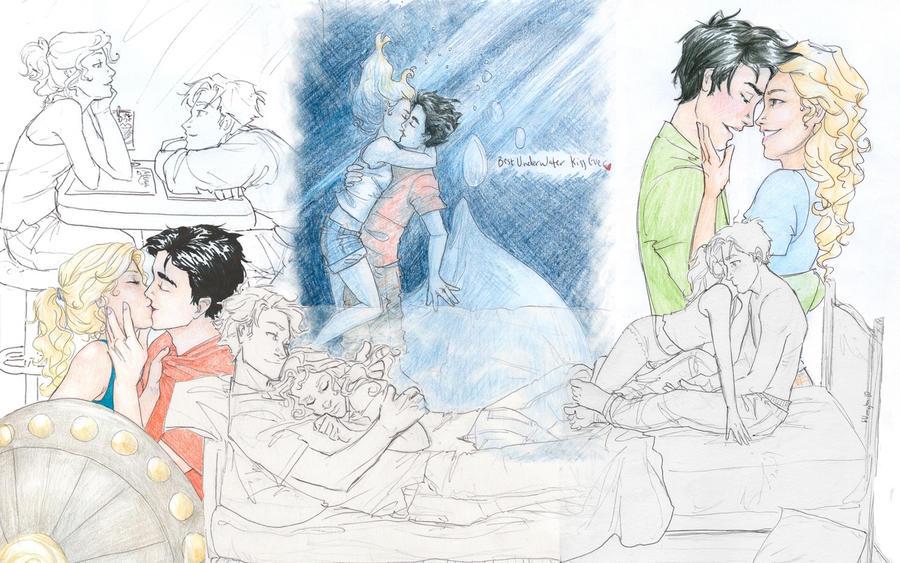 Percabeth Fan A... Percy And Annabeth Kiss Mark Of Athena