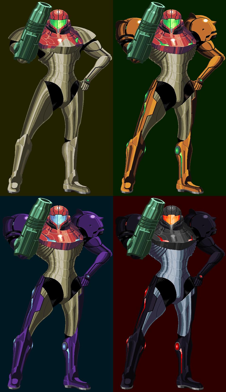 metroid prime anniversary samus aran s suits by killpanzer on