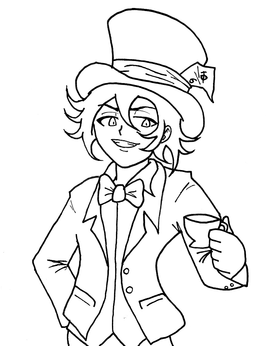 Anime Mad Hatter Drawing Traffic Club