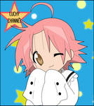 Coloring - Akira Kogami's wink - Lucky Star