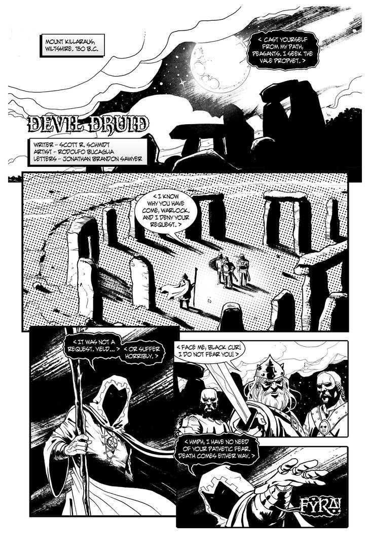 Devil Druid Page 1 Lettering by gadgetwk on DeviantArt