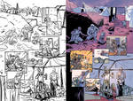 Star Captain Apollo - Layouts and Finished Page