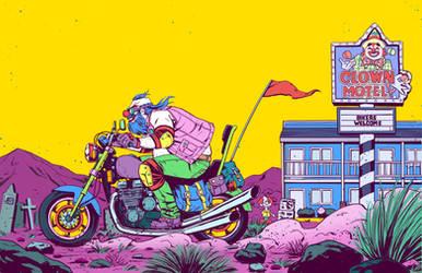 Clown Biker by gadgetwk