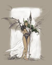 Angel  yes no by Ronammy