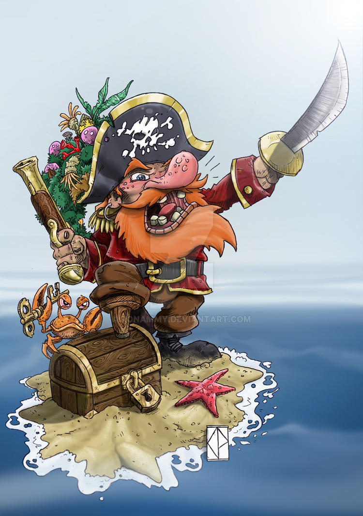 Captain Salty SeaSalat and KeyCrab by Ronammy