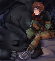 Evening Rest - HTTYD2 by RenonsPrints