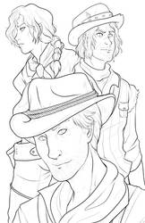 Red dead redemption 2 - lineart by RenonsPrints