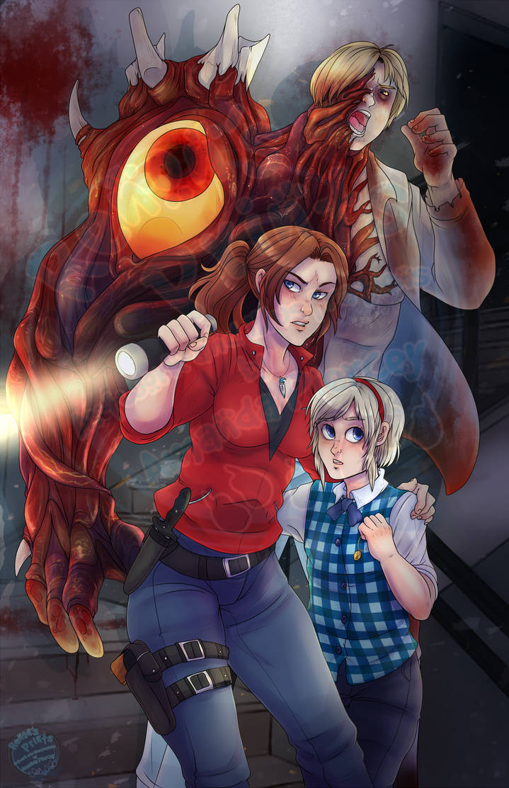 Claire and Sherry - Resident Evil 2 by RenonsPrints