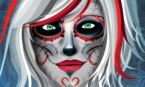 SOTW 290 Woman  Sugar Skull 1er Romantar by Zzaber