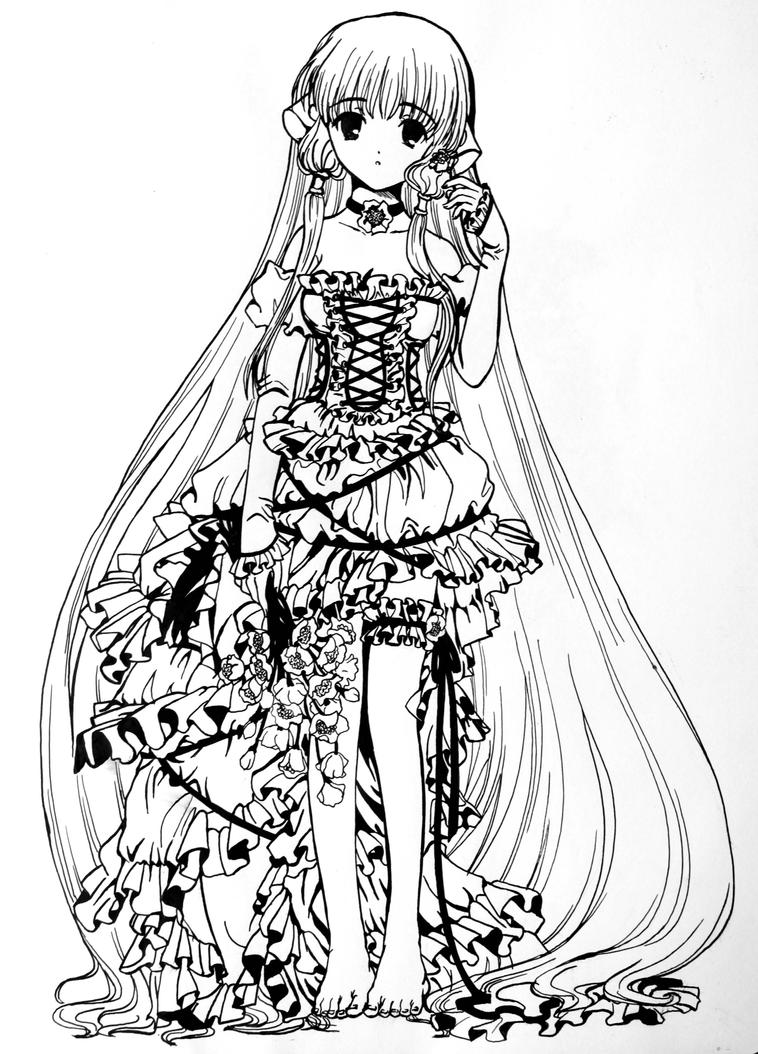 anime coloring pages deviantart art - photo#23