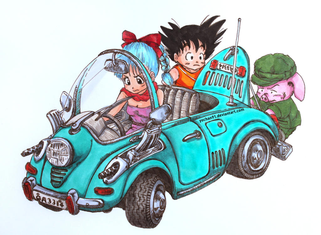 Dragonball - fixing the car by yochan91