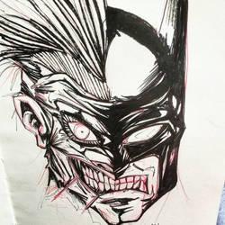joker vs batman by kent-of-artload