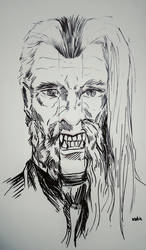 Tribute to christopher Lee by kent-of-artload