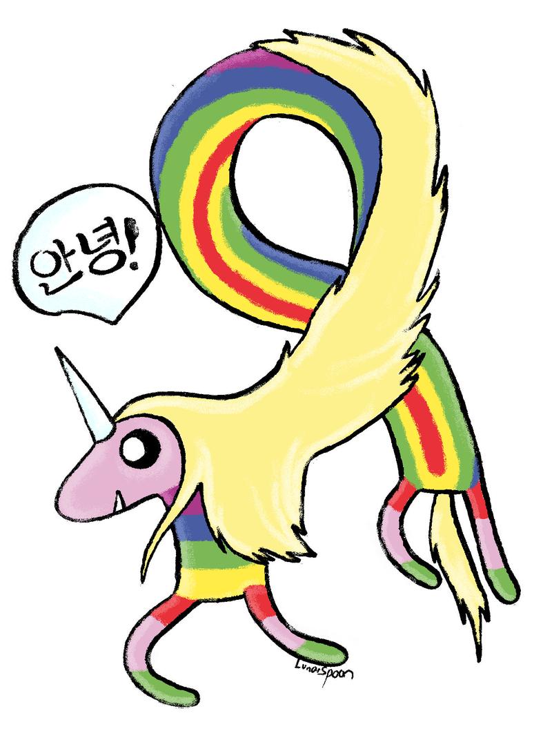Cartoon Netland Lady Rainicorn S Language Korean