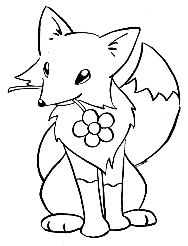 kitsune coloring book page by lunarspoon - Coloring Book Drawings