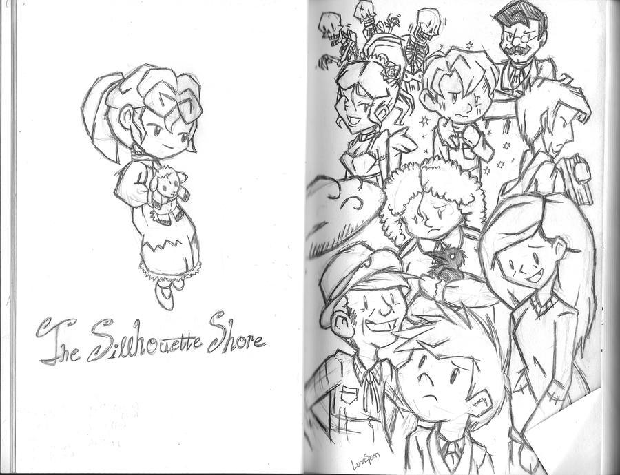 Silhouette Shore sketchbook by LunarSpoon