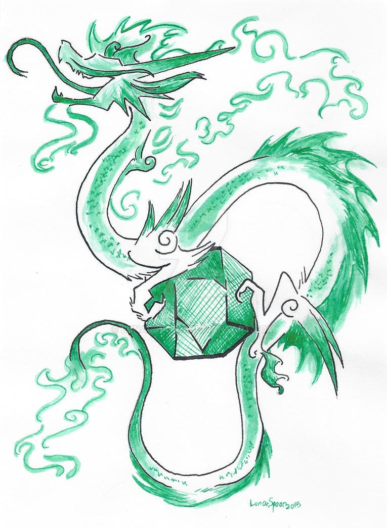 Emerald Dragon by LunarSpoon