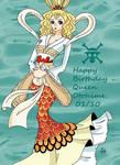 Happy Birthday Queen Otohime by Namuzza94
