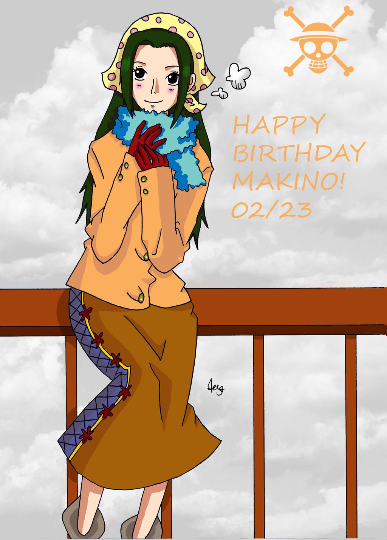 Happy Birthday Makino - One Piece by Namuzza94 on DeviantArt