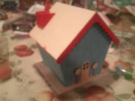 wooden gingerbread house wip