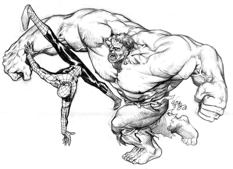 Hulk Vs Spidey By Ej Su On Deviantart