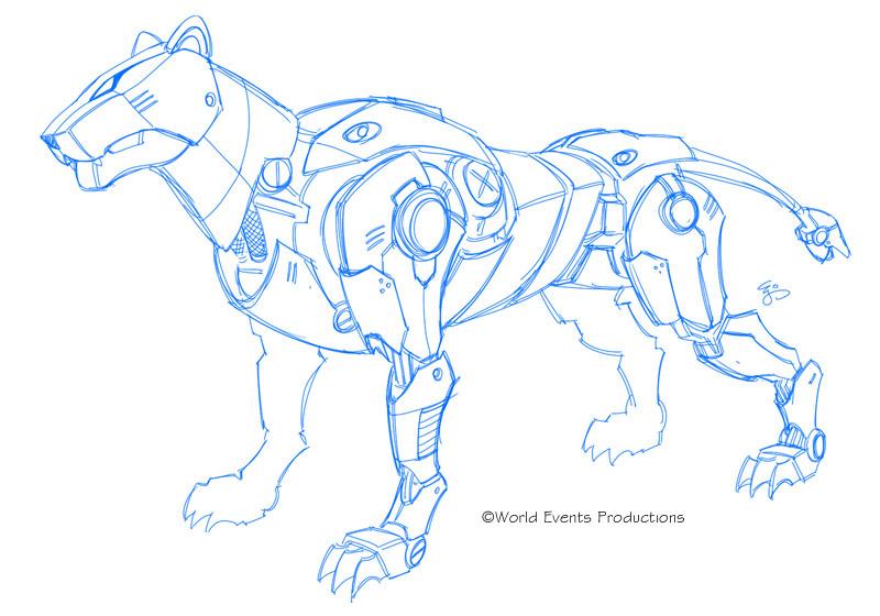 Voltron 2011 Unused Blue Lion By EJ Su On DeviantArt