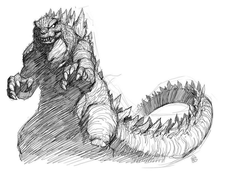 Godzilla Sketch by EJ-SuGodzilla 2014 Sketch