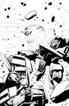 MTMTE#23 Soundwave vs. Bumblebee Cover b/w