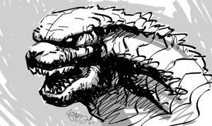 Godzilla 2014 by EJ-Su
