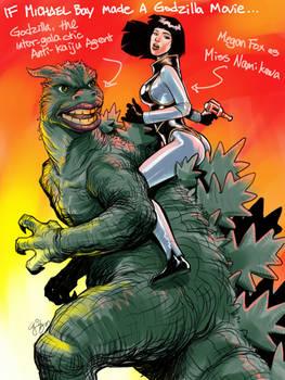 If Michael Bay Made a Godzilla movie..