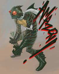 Kamen Rider Amazon  by EJ-Su