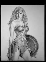 Wonder Woman pencil drawing
