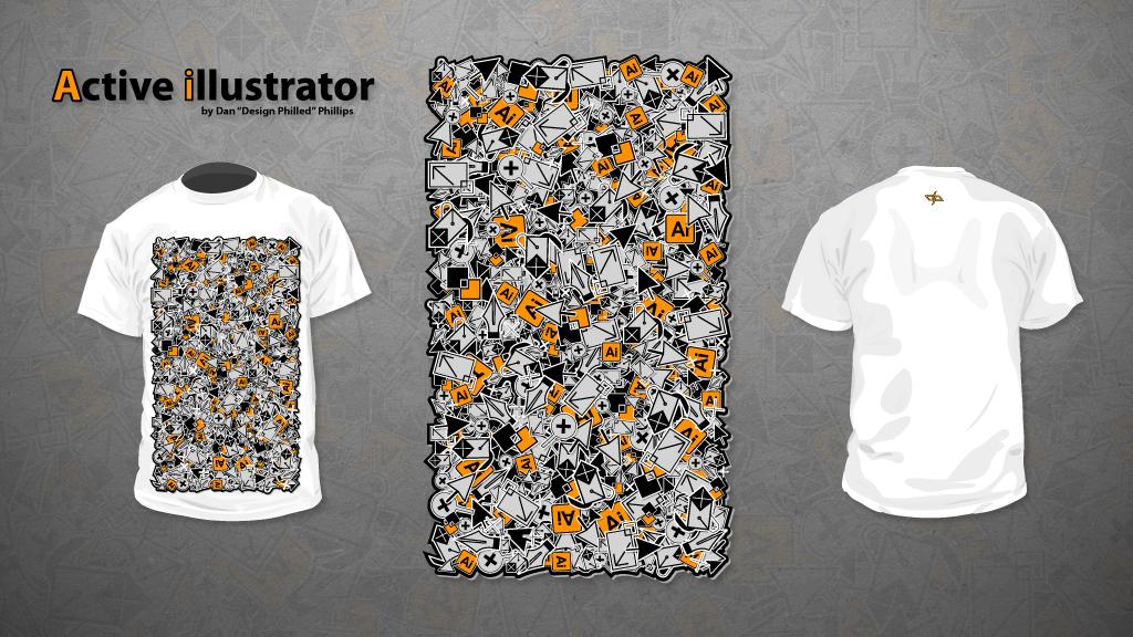 Active illustrator T-shirt by DesignPhilled