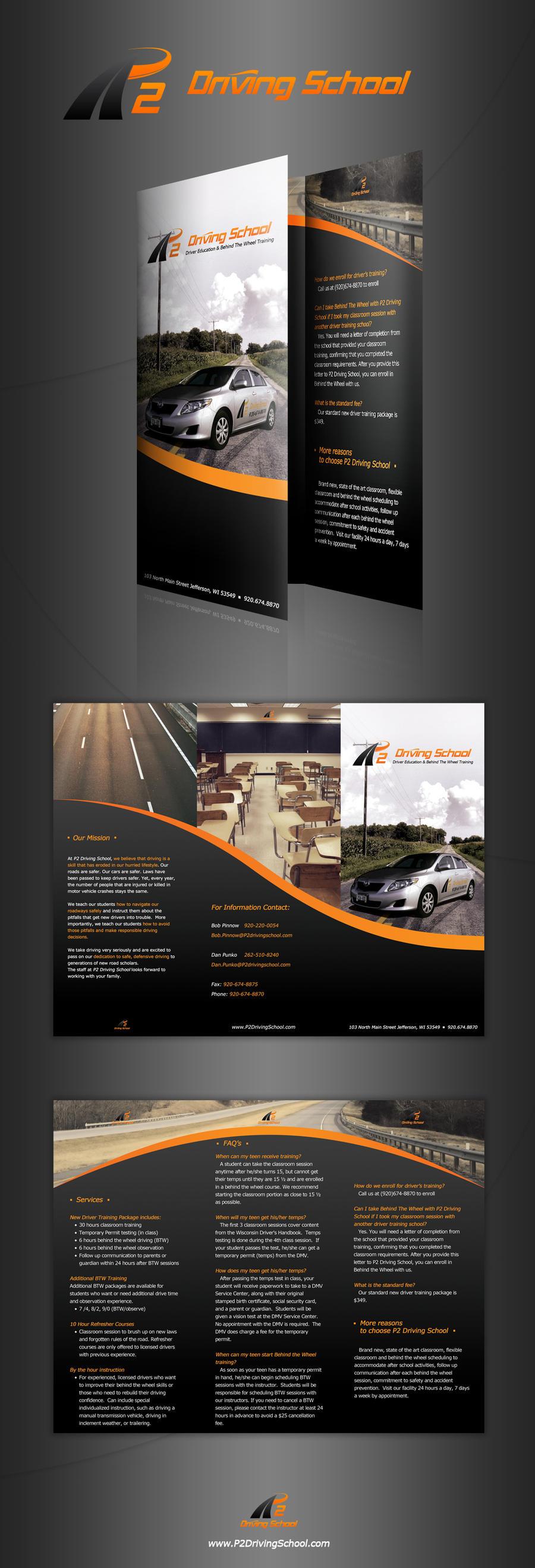 school brochure design templates - p2 driving school brochure by designphilled on deviantart