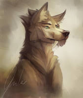 Painted woof by Yukitashi