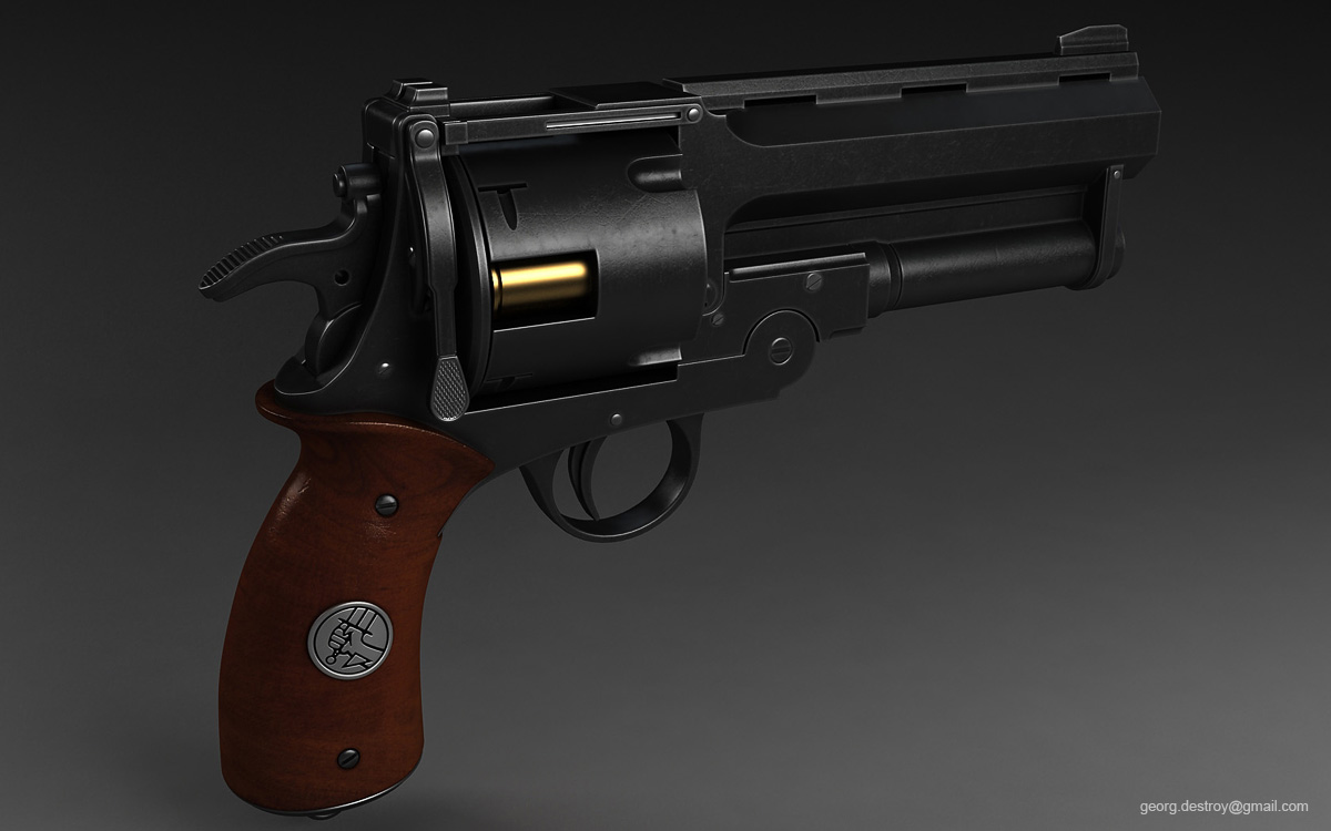Duelo en la cima: Kannon Vs Viktor Hellboy_Samaritan_revolver_by_georgdestroy