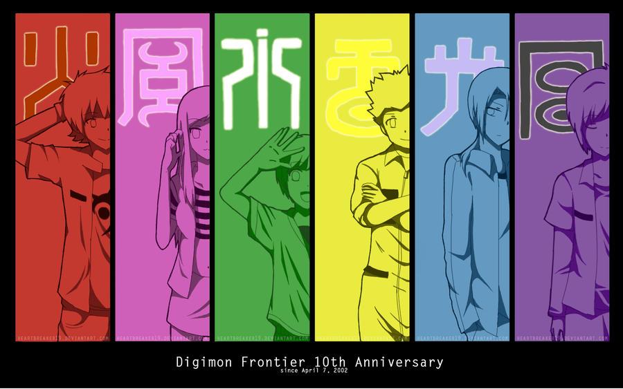 Digimon Frontier 10th Anniversary By Heartbreaker19 On Deviantart