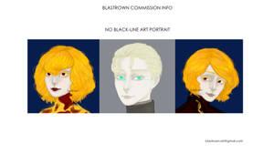 Comm Info No Black Line Portraits by blastrown