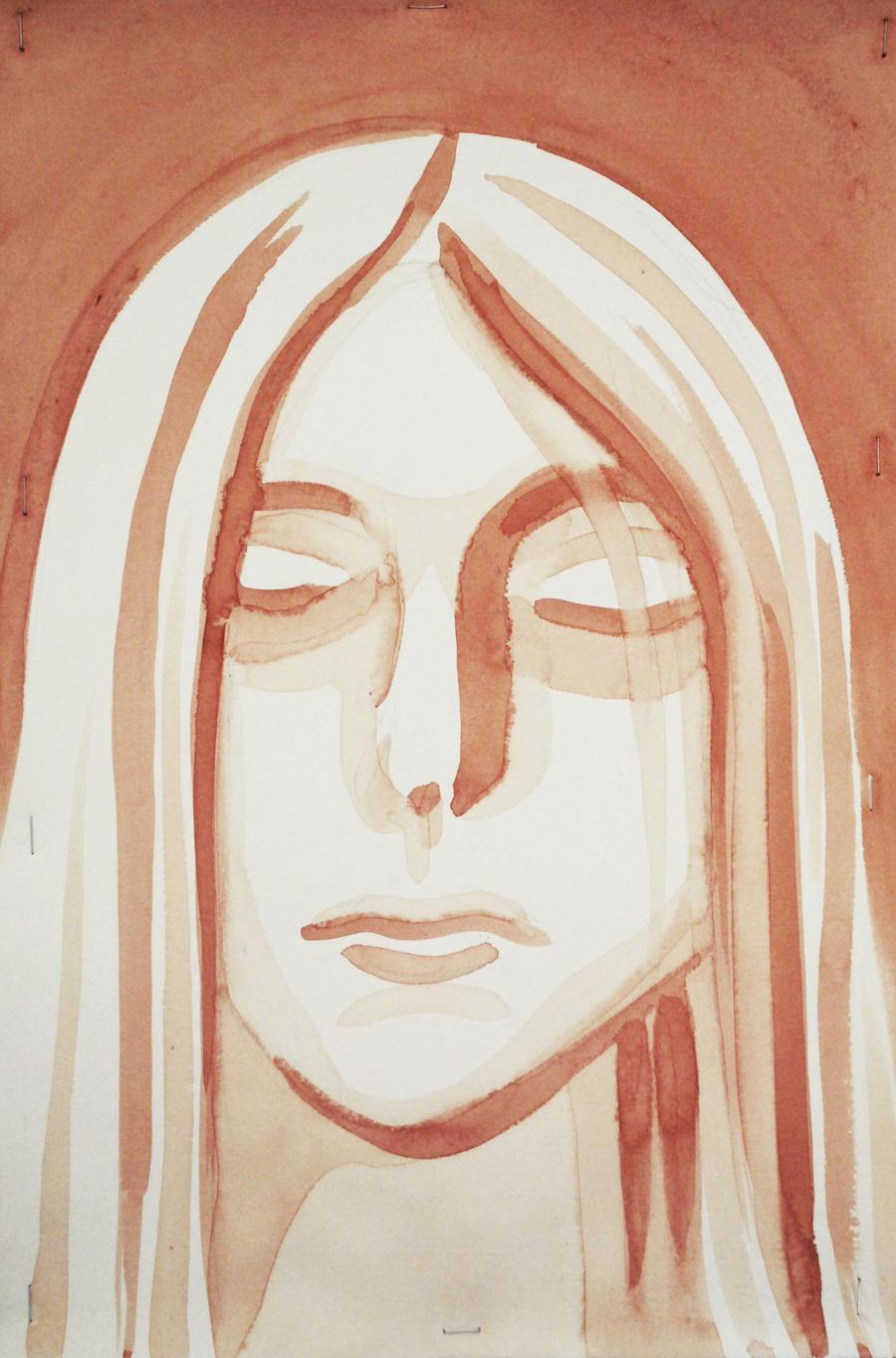 Self-portrait in Blood